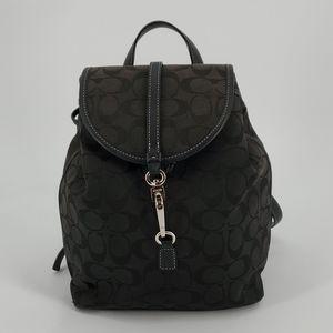 Coach Black Signature Mini Backpack